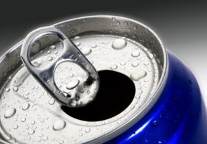 open drinks can with ring pull